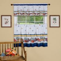 Achim Fruity Tiles 24-Inch Kitchen Window Curtain Tier Pair and Valance
