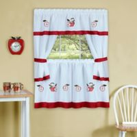 Achim Gala 36-Inch Kitchen Window Curtain Tier Pair and Valance in Red