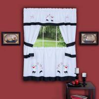 Achim Gourmet 24-Inch Kitchen Window Curtain Tier Pair and Valance in Black