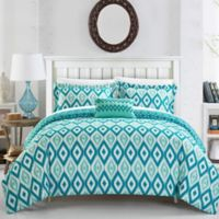 Chic Home Amare Reversible King Duvet Cover Set in Aqua
