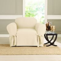 Sure Fit® Heavyweight Box Seat Chair Cover in Natural