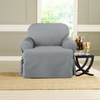 Sure Fit® Heavyweight T Chair Cover in Pacific Blue