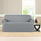 Sure Fit® Heavyweight T Loveseat Cover in Pacific Blue