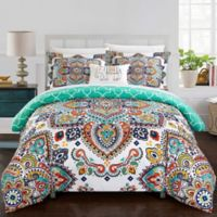 Chic Home Max 6-Piece Twin Duvet Cover in Aqua