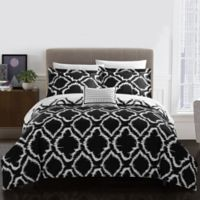 Chic Home Sasha Reversible Queen Duvet Cover Set in Black