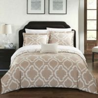 Chic Home Sasha Reversible Twin Duvet Cover Set in Beige