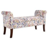 Linon Home Indie Storage Bench in Periwinkle