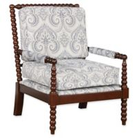 Linon Home Sussex Wood Frame Spindal Chair in Multi