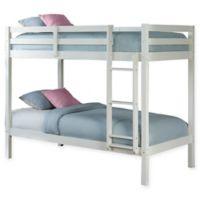 Hillsdale Caspian Twin Bunk Bed in White