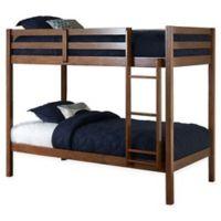 Hillsdale Caspian Twin Bunk Bed in Walnut
