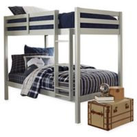 Hillsdale Caspian Twin Bunk Bed in Grey
