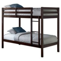 Hillsdale Caspian Twin Bunk Bed in Chocolate
