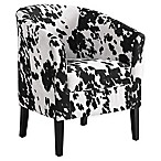 Linon Home Sadie Udder Madness Club Chair in Brown/White