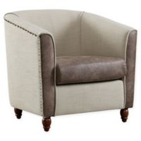 Linen Home Cora Barrel Chair in Beige