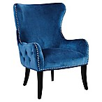 Linon Home Salem Round Back Chair in Blue