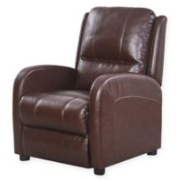 Abbyson Living® Joshua Pushback Leather Recliner in Brown
