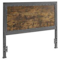 Forest Gate Holter Industrial QueeninSize Wood Metal Headboard