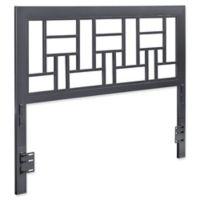 Forest Gate Modern Queen-Size Square Metal Headboard in Gun Metal Grey