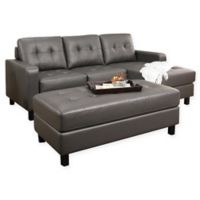 Abbyson Living® Taria Reversible Sectional in Grey