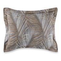 Tommy Bahama® Raffia Palms Standard Pillow Sham in Pewter