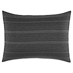 Vera Wang Home Charcoal Floral Rectangular Striped Throw Pillow in Dark Grey