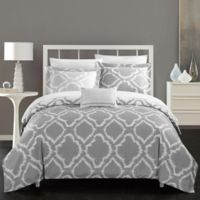 Chic Home Sasha 6-Piece Reversible Twin XL Duvet Cover Set in Grey