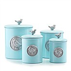 Old Dutch International Lauren BlueBird 4-Piece Canister Set in Blue