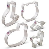 Ann Clark 5-Piece Cat Cookie Cutter Boxed Set