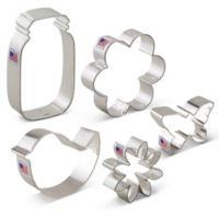 Ann Clark 5-Piece Flower Garden Cookie Cutter Boxed Set