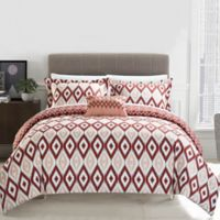 Chic Home Amare Reversible 8-Piece King Duvet Cover Set in Brick
