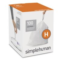 simplehuman® Code H 100-Pack 30-35-Liter Custom-Fit Liners in White