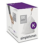 simplehuman® Code K 100-Pack 35-45 Liter Custom-Fit Liners in White