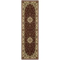 Nourison Persian Arts Kirman 2-Foot 3-Inch x 12-Foot Runner in Brick Red