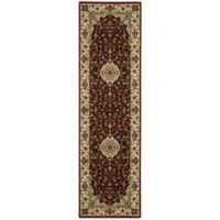 Nourison Persian Arts Kirman 2-Foot 3-Inch x 8-Foot Runner in Brick Red