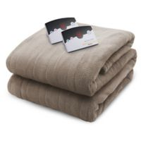 Biddeford Blankets® Micro Plush Heated Queen Blanket in Taupe