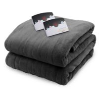 Biddeford Blankets® Micro Plush Heated Twin Blanket in Grey