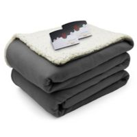 CBiddeford® Heated Comfort Knit with Sherpa Blanket in Steel Grey