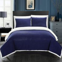 Chic Home Vargon King Blanket Set in Navy