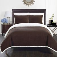 Chic Home Vargon Full/Queen Blanket Set in Brown