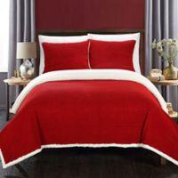 Chic Home Vargon Full/Queen Blanket Set in Marsala