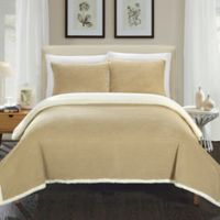 Chic Home Vargon Full/Queen Blanket Set in Taupe