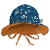 My SwimBaby® Size Medium Navy Sea Friends Sun Hat