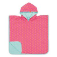 Lassig Size 12M-3T Peach Stars Beach Poncho in Pink/Orange