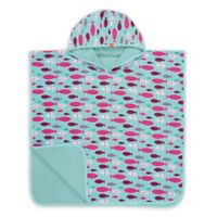 Lassig Size 12M-3T Mr. Fish Beach Poncho in Blue/Pink