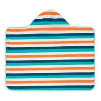 Lassig Newborn-24M Multi-Stripe Beach Poncho in Blue/Teal