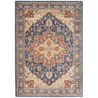 Nourison Reseda 3' x 5' Machine Woven Area Rug in Blue