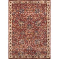 "Nourison Reseda 5'3"" x 7'6"" Machine Woven Area Rug in Brick"