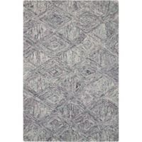 "Nourison Interlock 5' x7'6"" Hand Tufted Area Rug in Heather"