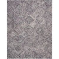 "Nourison Interlock 8' x10'6"" Hand Tufted Area Rug in Heather"