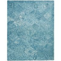 "Nourison Interlock 8' x10'6"" Hand Tufted Area Rug in Marine"